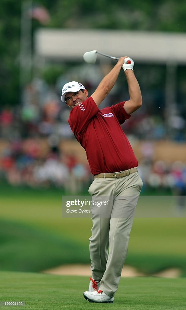 <a gi-track='captionPersonalityLinkClicked' href=/galleries/search?phrase=Padraig+Harrington&family=editorial&specificpeople=175865 ng-click='$event.stopPropagation()'>Padraig Harrington</a> of Ireland hits his tee shot on the 11th hole during the final round of the Valero Texas Open at the AT&T Oaks Course at TPC San Antonio on April 7, 2013 in San Antonio, Texas.