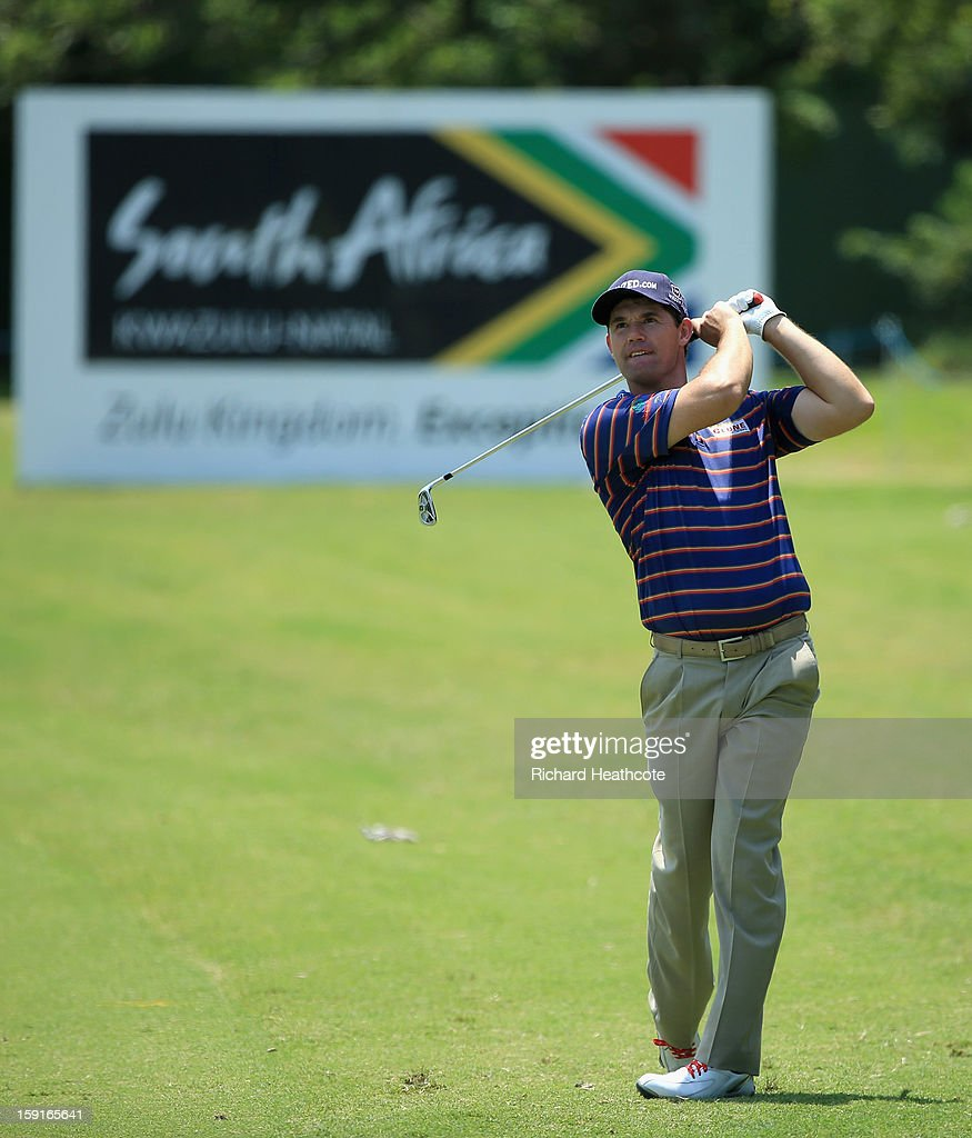 Padraig Harrington of Ireland in action during the Pro-Am for the Volvo Champions at Durban Country Club on January 9, 2013 in Durban, South Africa.