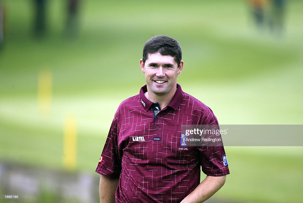 Padraig Harrington of Ireland in action during the second round of the Benson and Hedges International Open held on May 10 2002 at the Belfy in...