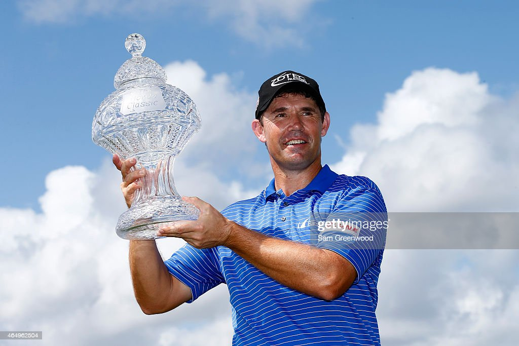 <a gi-track='captionPersonalityLinkClicked' href=/galleries/search?phrase=Padraig+Harrington&family=editorial&specificpeople=175865 ng-click='$event.stopPropagation()'>Padraig Harrington</a> of Ireland poses with the trophy after winning The Honda Classic at PGA National Resort & Spa - Champion Course on March 2, 2015 in Palm Beach Gardens, Florida.