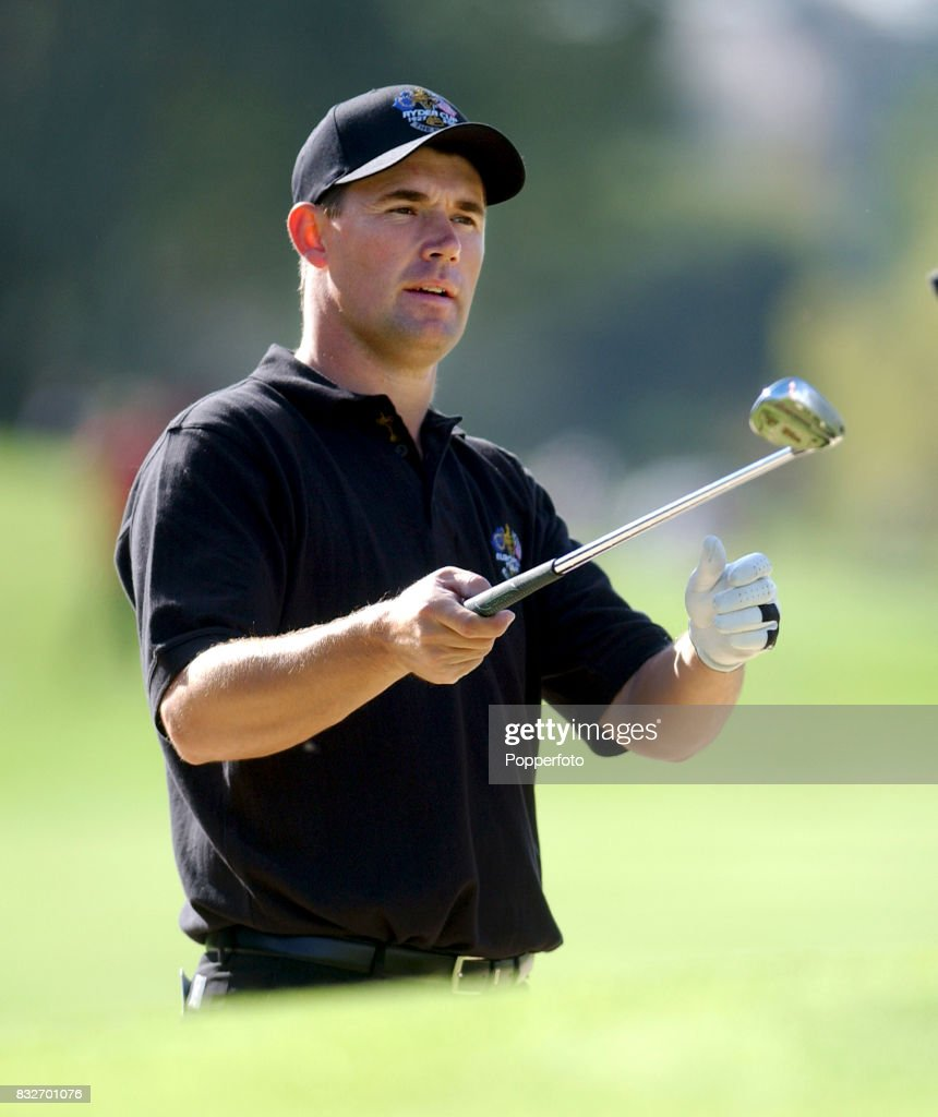 Padraig Harrington of Team Europe during a practice session at The Belfry in preparation for the Ryder Cup against Team USA on September 24th 2002