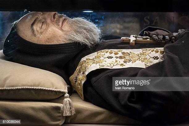 Padre Pio's face The mortal remains of Saint Pio one of the most popular Roman Catholic saints and better known as Padre Pio returned after 100 years...