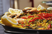 Paella dish, close-up
