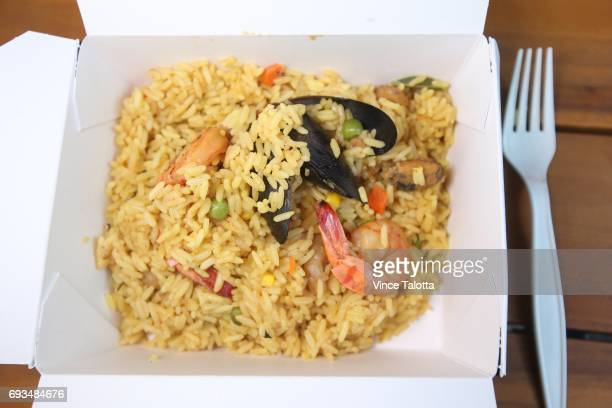 TORONTO ON JUNE 1 Paella with seafood from La Fiesta restaurant at the downtown Adelaide Market running weekdays until July 28