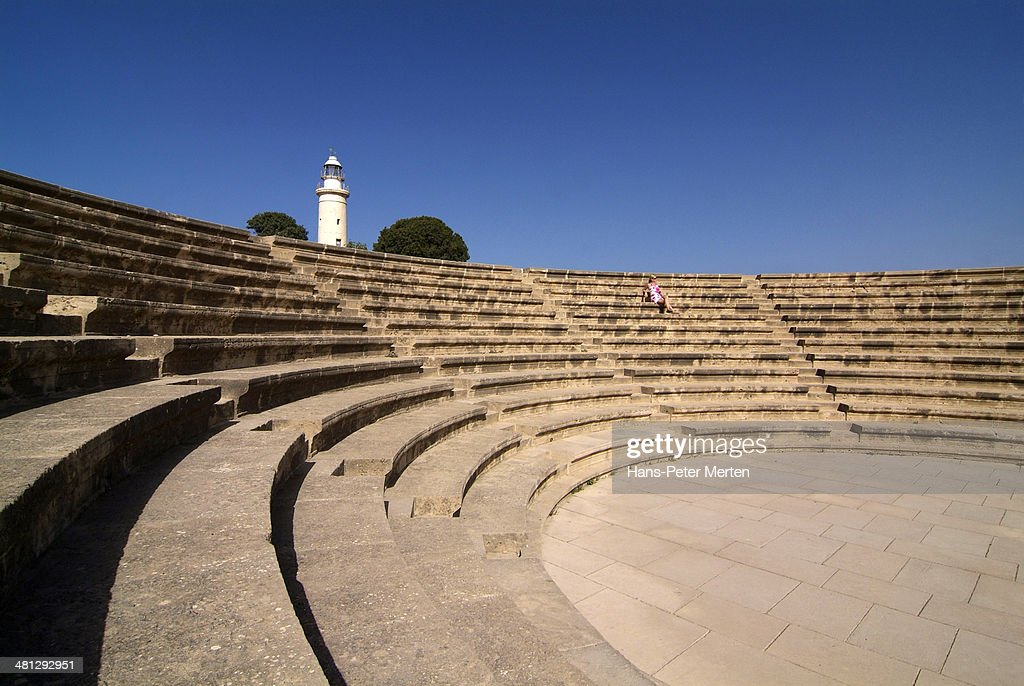 Pafos, Odeon and Lighthouse, Cyprus