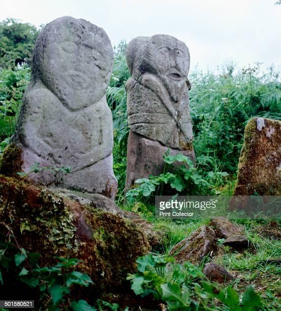 Pagan Celtic stone figures Boa Island CoFermanagh Ireland c5th century