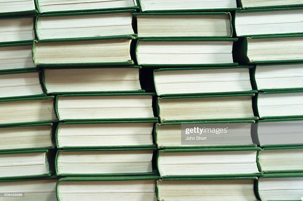 Page Edges In A Stack Of Books; Northumberland England