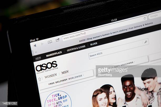 A page from the Asoscom website an online fashion retailer operated by Asos Plc is displayed on an Apple Inc iPad in London UK on Thursday May 24...