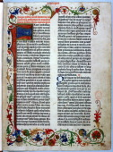 Page from the Gutenberg Bible 1455 Johann Gutenberg is regarded as the inventor of movable type In 1455 he produced the first large printed book the...