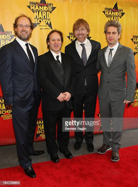 Page McConnell Jon Fishman Trey Anastasio and Mike Gordon of Phish attend 'Hands On A Hard Body' Broadway Opening Night at The Brooks Atkinson...