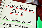 Page of a note with title Low sodium diet.