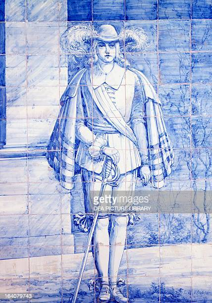 A page to Queen Catherine of Braganza wife of Charles II King of England during the marriage by proxy ceremony tile Italian Embassy in Lisbon...