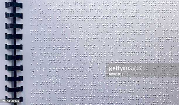 Page written in braille