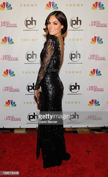 Pageant judge Ximena Navarrete Miss Universe 2010 arrives at the 2012 Miss Universe Pageant at Planet Hollywood Resort Casino on December 19 2012 in...