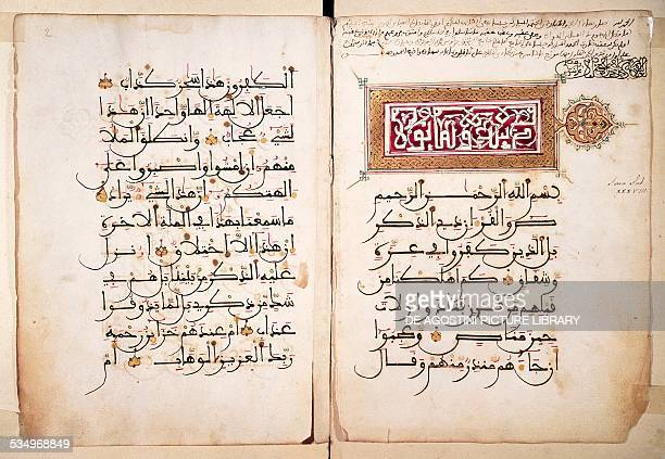 Pages from a Koran 15th16th century Arabic manuscript Libya Copyright Veneranda Biblioteca Ambrosiana Milan Biblioteca Ambrosiana