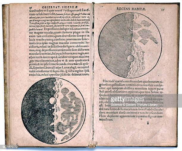 Pages from 'Sidereus nuncius magna' by Galileo Galilei a book of astronomical theory and observations Galileo was an Italian astronomer and physicist...