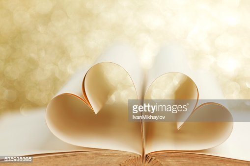 Pages in heart shape : Stock Photo