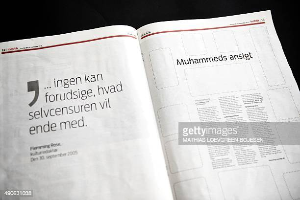 Pages quoting JyllandsPosten's culture editor Flemming Rose ' no one can predict where selfcensorship will end' without images of the Prophet...