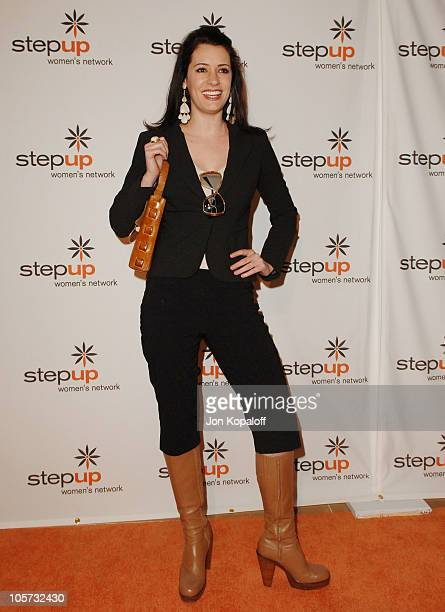 Paget Brewster during Step Up Women's Network Inspiration Awards Luncheon Arrivals at Beverly Hilton Hotel in Los Angeles California United States