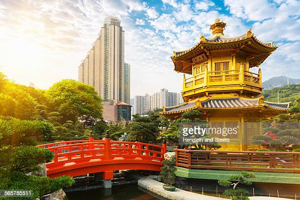 Pagoda and pavilion, Nan Lian Garden, Diamond Hill, Hong Kong, China