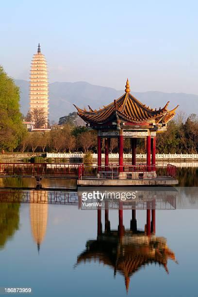 Pagoda and pavilion