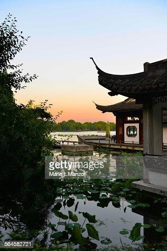 Pagoda at sunset