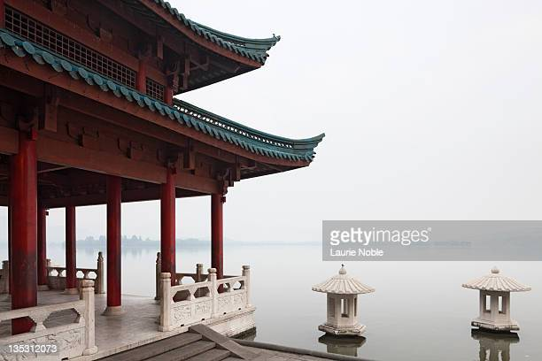 Pagoda on West Lake, Hangzhou, Zhejiang
