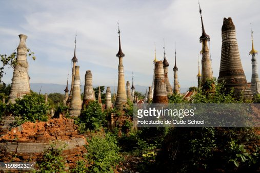 Pagodas Inle lake Burma : Stock Photo