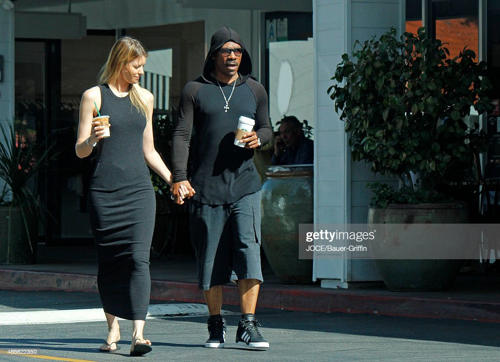 Paige Butcher and Eddie Murphy are seen on March 17 2015 in Los Angeles California