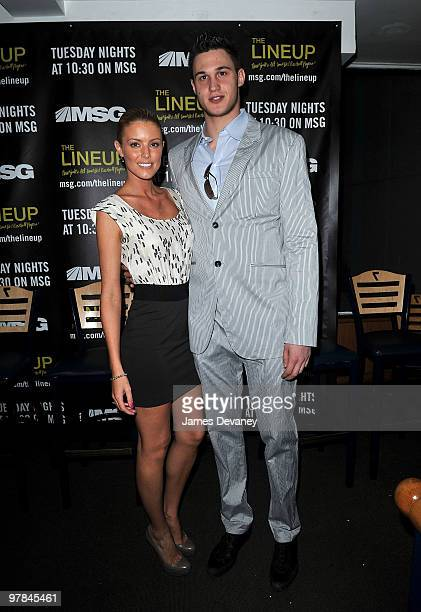 Paige Butcher and Knicks player Danilo Gallinari attend launch party for the MSG Network premiere of 'The Lineup New York�s AllTime Best Baseball...