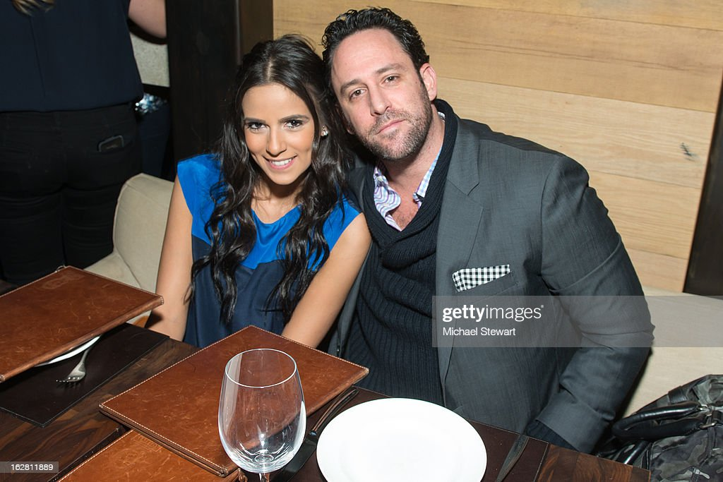 Paige Hospitality Group owner Matt Shendell (R) and guest attend The ONE Group's Ristorante Asellina celebrates two years on Park Avenue South NYC at Ristorante Asselina on February 27, 2013 in New York City.
