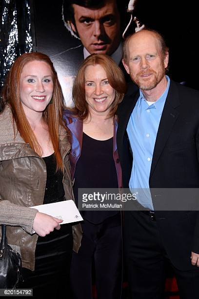 Paige Howard Cheryl Howard and Ron Howard attend UNIVERSAL PICTURES IMAGINE ENTERTAINMENT and WORKING TITLE FILMS Present the New York Premiere of...