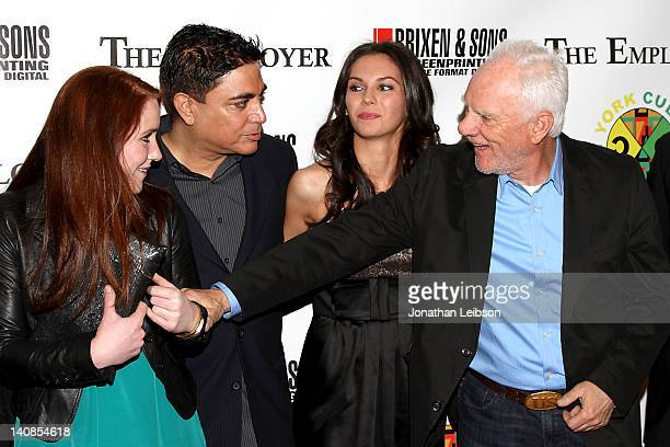 Paige Howard Michael DeLorenzo Katerina Mikailenko and Malcolm McDowell arrive to the 'The Employer' Los Angeles Premiere at Regent Showcase Theatre...