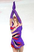 Paige Rydberg of United States skates during the junior ladies short dance of the ISU Junior Grand Prix at Dom Sportova on October 8 2015 in Zagreb...