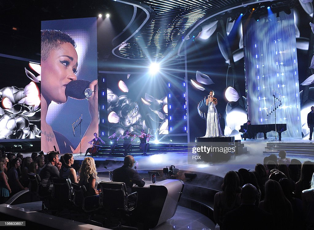 Paige Thomas onstage at FOX's 'The X Factor' Season 2 Top 10 Live Performance Show on November 21, 2012 in Hollywood, California.