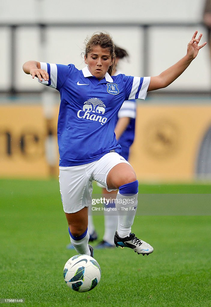 Paige Williams of Everton Ladies FC during the FA WSL match between Everton Ladies FC and Bristol Academy Women's FC at the Arriva Stadium on July 4, 2013 in Liverpool, England