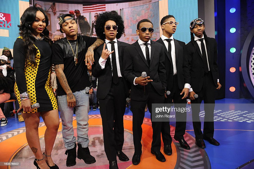 Paigion and Bow Wow with Princeton Prodigy Roc Royal and Ray Ray of Mindless Behavior visit BET's 106 Park at BET Studios on March 11 2013 in New...