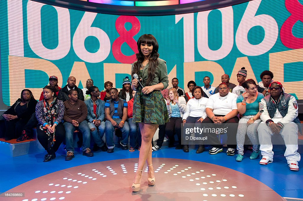 Paigion hosts BET's '106 & Park' at BET Studios on March 21, 2013 in New York City.