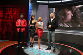 Paigion Shorty da Prince Mykie and Common attend 106 Park at BET studio on December 15 2014 in New York City