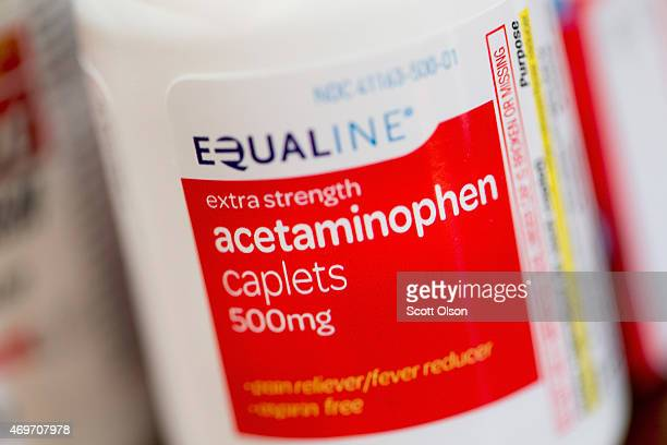 Pain medications which contain acetaminophen are shown on April 14 2015 in Chicago Illinois New research has shown that acetaminophen which is found...