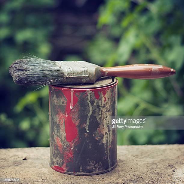 Paint and brush