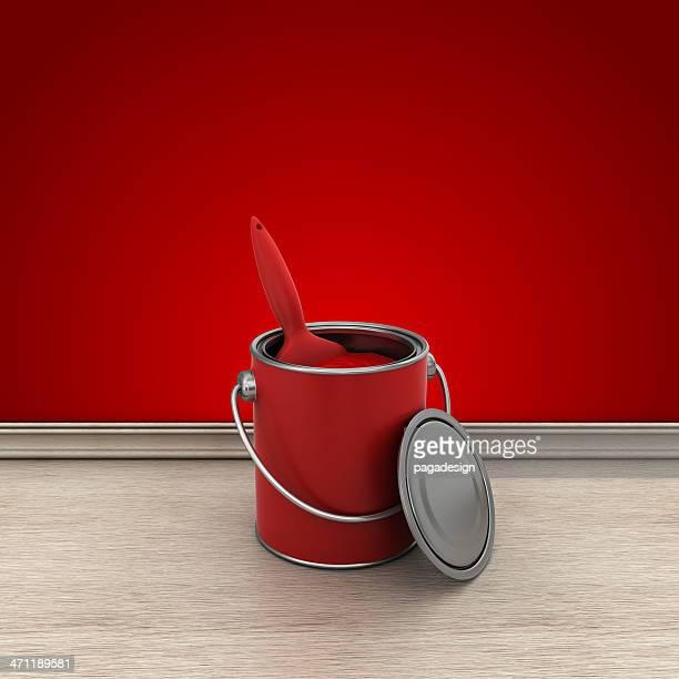 paint brush (ペイントブラシ)のお部屋は、赤
