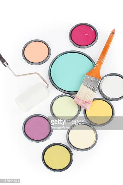 Farbdose Leidseplein Roller und Pinsel