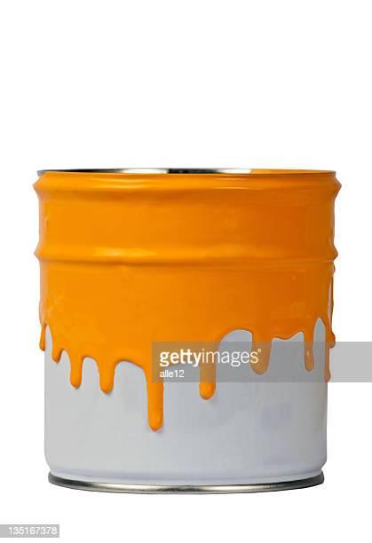 Pot de peinture-Orange