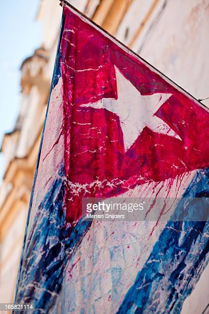 Paint leaking cuban flag