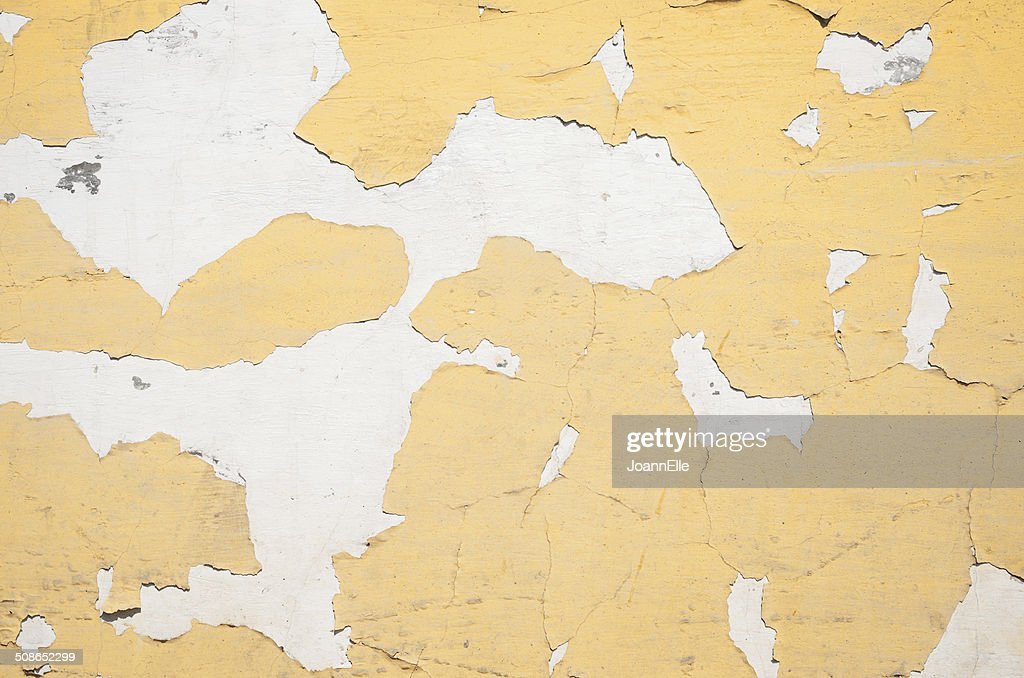 paint peeling off a white wall : Stock Photo
