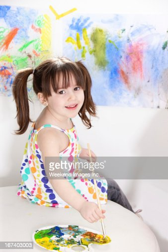 Paint project for kids : Stock Photo