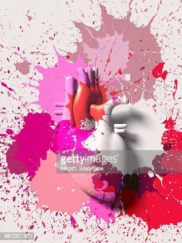 Paint splattered Heart