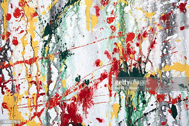 Paint Splatters On Wall, Abstract