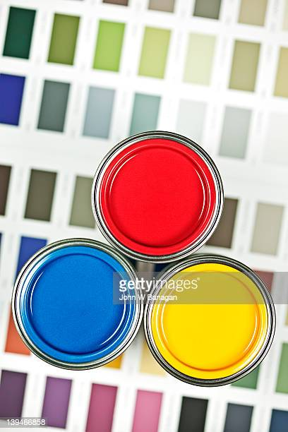 Paint tins and swatches